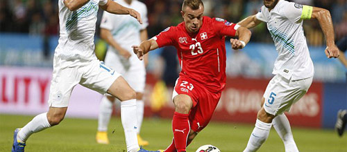 Чемпионат Европы 2016, квалификация: Швейцария - Словения