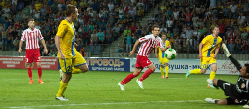 Лига Чемпионов, квалификация: Скендербеу - БАТЭ