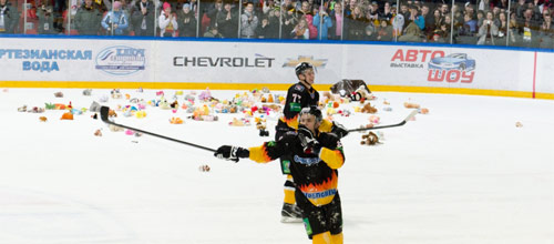 Чемпионат КХЛ: Северсталь - Динамо Рига