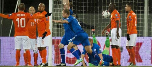 Чемпионат Европы 2016, квалификация: Голландия - Исландия