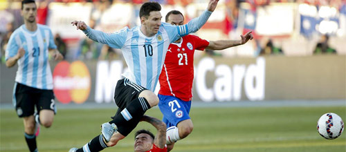 Чемпионат мира 2018, квалификация: Чили - Аргентина
