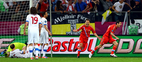 Международный товарищеский матч: Россия - Чехия