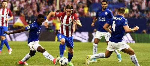 Лига Чемпионов: Лестер - Атлетико Мадрид